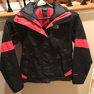 North Face ski double lined ski coat
