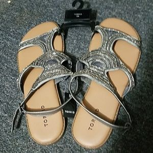 Cute Sequin and Beaded Sandals