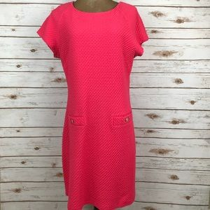 Lilly Pulitzer Coral Pink Textured Sheath Dress