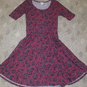 Lularoe Nicole Sz Large pink and gray