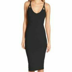 Leith Black Bodycon Midi Dress