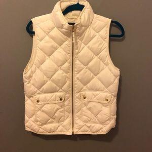 J. Crew Cream Vest