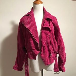 NWT Free People slouchy dolman moto orchid size XS