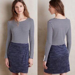 Anthropologie Dolan Navy Mixed Print Dress
