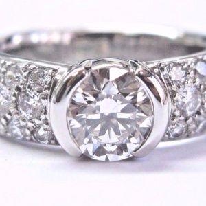Tiffany & Co Platinum Etoile Diamond Engagement Ri
