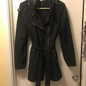 Michael Kira Black rain jacket
