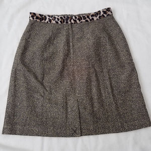 NWOT pencil skirt cheetah print waist band 12