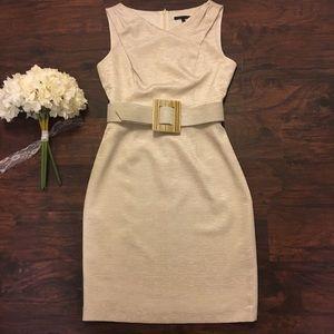 💕  David Meister Champagne Brocade Sheath Dress