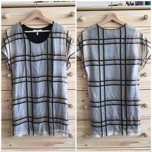 Robert Rodriguez Silk Layered Tunic Blouse 0/XS