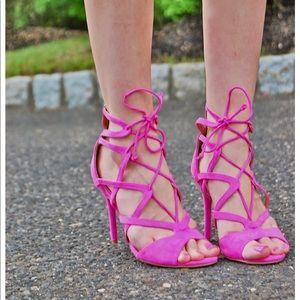 JustFab Emmey Sandal in Violet Size 8