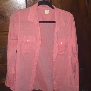 Pink J.Crew button down