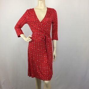 Old Navy Red dotted Wrap Dress Small