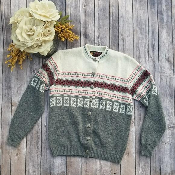 Sweaters Vintage Jersild Button Up Christmas Sweater Poshmark