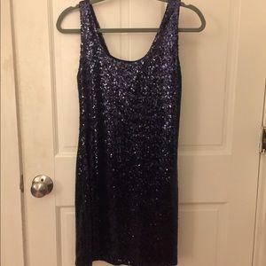 Navy Blue NWT Bodycon sequin dress