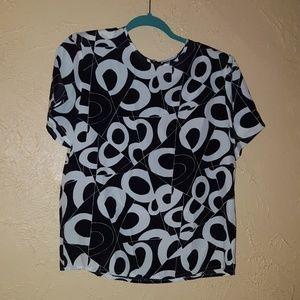 Vintage Hana Sung unique pattern medium top