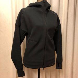 Black Adidas zipfront hoodie jacket