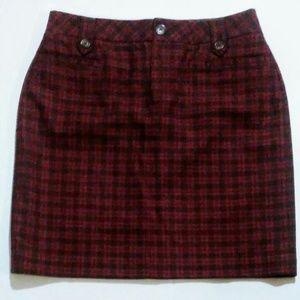Eddie Bauer Plum Wool Skirt 8