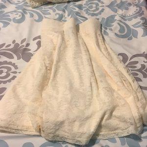 H&M lace skater skirt
