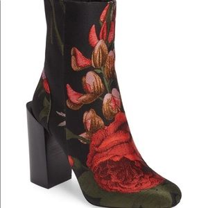 Jeffrey Campbell Stratford Floral  Ankle Boots