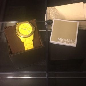 Yellow Michael Kors watch!