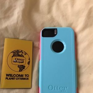 Teal/Pink Apple iPhone 7 Otterbox Commuter Case