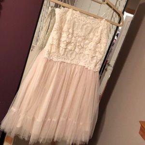 Off-white Lace Dress