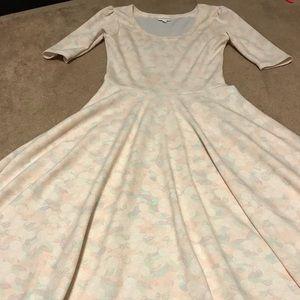 LulaRoe Small Nicole Dress - Pastel Floral