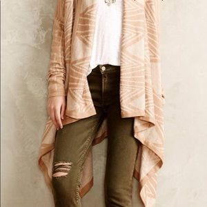 Anthropologie Moth open front beige wrap sweater