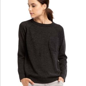 Zady charcoal dark gray lightweight alpaca sweater