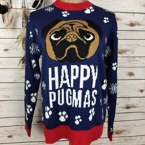 Happy Pugmas Dog Ugly Christmas Holiday Sweater