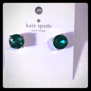 Kate Spade Gum drop emerald green stud earrings