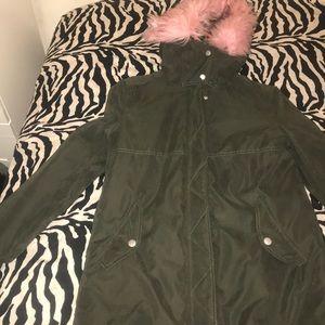 Navy green forever 21 jacket