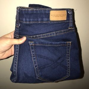 Aeropostale Dark Wash High Waisted Jegging