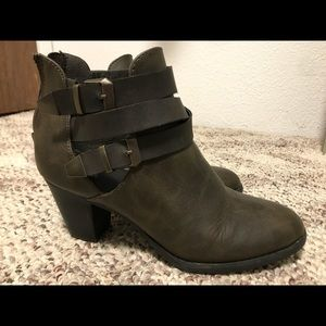 Ankle buckle booties