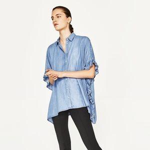 Zara Frill Tunic Top