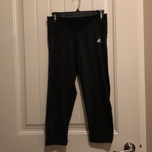 Adidas high waisted black workout leggings