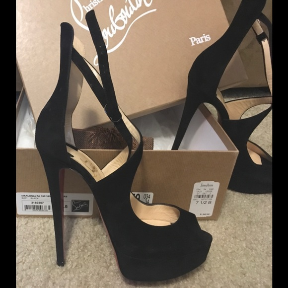 separation shoes 4b6e2 cac97 CHRISTIAN LOUBOUTIN Marlenalta 150 Veu Velours