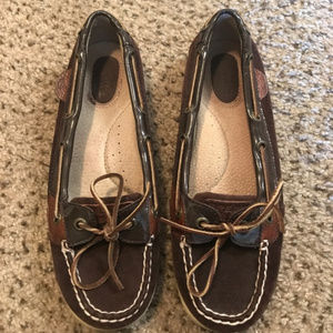 Sperry Brown Leather Boat Loafer Shoes 7M