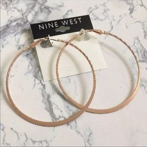 Nine West Rose gold hoops