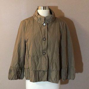 Zara Woman Tan Nylon Jacket