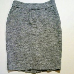 Grey Knit Skirt by DE Collections