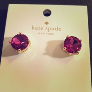 Kate spade gum drop earrings gold tone
