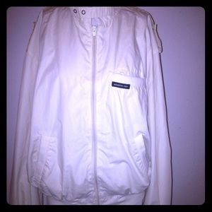 Members Only off white windbreaker jacket