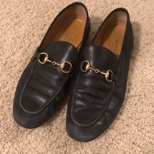 GUCCI Black Princetown loafers