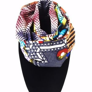 📌JUST IN📌 NECK WARMER IN AFRICAN PRINT FABRIC