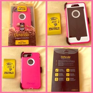 Pink/White Apple iPhone 7 Plus Otterbox Defender