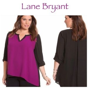 Lane Bryant Asymmetrical Blouse