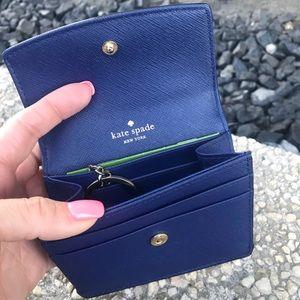 "Kate Spade Blue ""petty"" card holder"