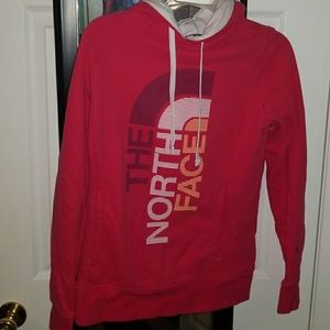 Pink northface hoodie
