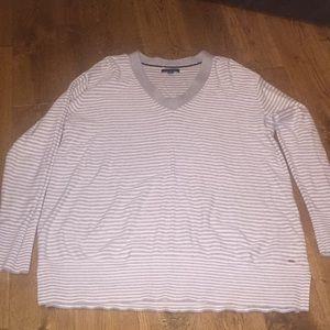 Soft lightweight Tommy Hilfiger Grey/white Sweater